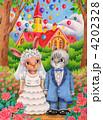 新郎新婦 結婚式 結婚のイラスト 4202328