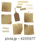 メモ帳 付箋紙 紙のイラスト 4205977