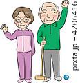 シニア おじいちゃん おばあちゃんのイラスト 4206416