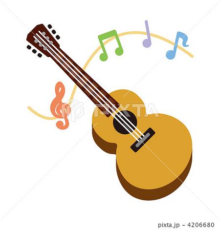楽器 ギター アコースティックギターのイラスト素材 4206680 Pixta