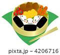 弁当 行楽弁当 食べ物のイラスト 4206716