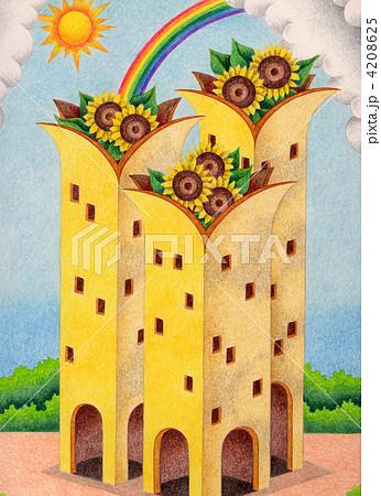向日葵の塔 4208625