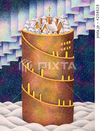 雪の塔 4208628