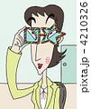 女性 人物 メガネのイラスト 4210326