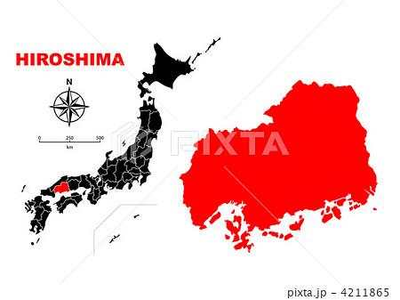 広島県-地図 4211865