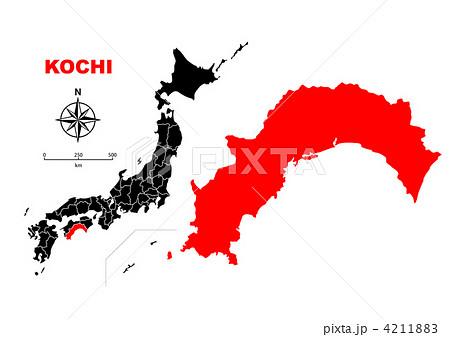 高知県-地図のイラスト素材 [4211883] - PIXTA