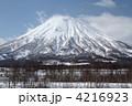 蝦夷富士 羊蹄山 雪山の写真 4216923