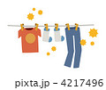 衣服 洗濯物 花粉のイラスト 4217496