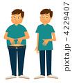 ダイエット 肥満 メタボリックのイラスト 4229407
