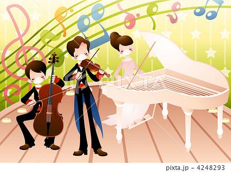 ミュージシャン 演奏 楽器のイラスト素材 4248293 Pixta