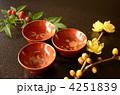 漆塗り松竹梅のおちょこ 4251839