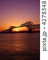 東京ゲートブリッジ 夕日 夕焼けの写真 4278348