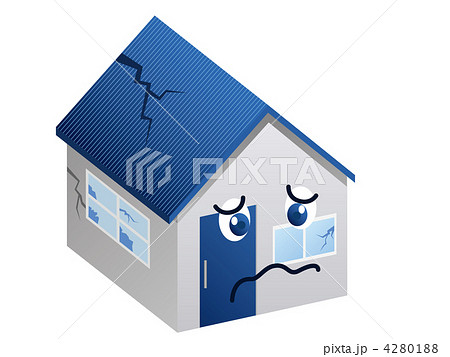 住宅(老朽化)のイラスト素材 [4280188] , PIXTA