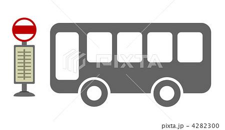 バス停とバスのイラスト素材 [4282300] - PIXTA