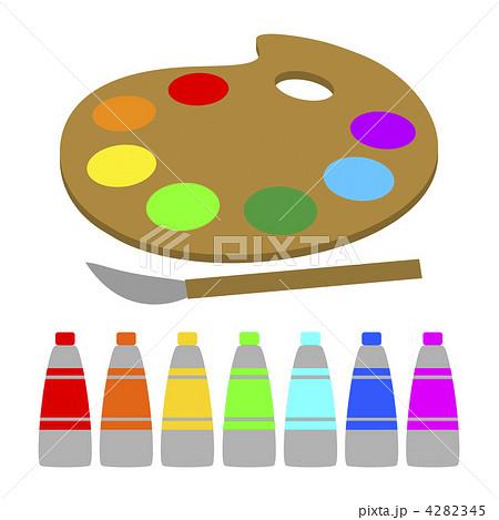 絵の具とパレットのイラスト素材 4282345 Pixta