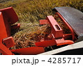 コンバイン 米農家 稲の写真 4285717