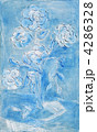Painting, a bouquet of white daisies 4286328