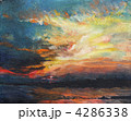 Painting, sunset on the Dnieper 4286338
