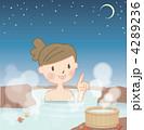 温泉イラスト。 4289236