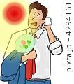 暑さに負けるなビジネスマン 4294161
