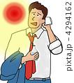 汗を拭くビジネスマン 4294162