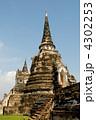 ワット・プラ・シー・サンペ 仏塔 アユタヤの写真 4302253
