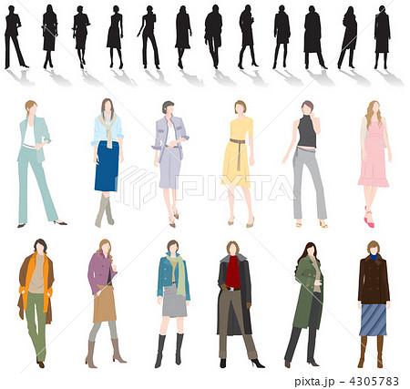 女性のファッションのイラスト素材 [4305783] , PIXTA