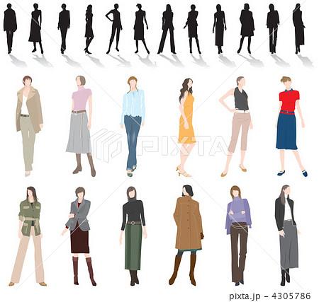 女性のファッションのイラスト素材 [4305786] , PIXTA