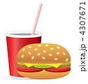 チーズバーガー ハンバーガー バーガーのイラスト 4307671