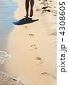 Footprints on the sand 4308605