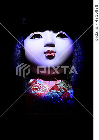 人形 市松人形 童女 女の子 怖い 恐怖 4310838