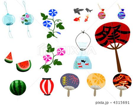 夏の風物詩のイラスト素材 4315691 Pixta
