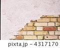 レンガタイル モルタル 壁の写真 4317170