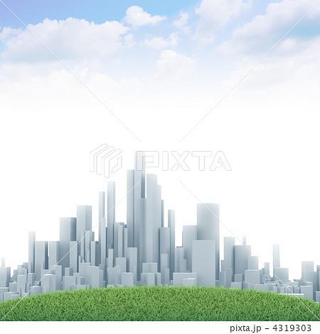 ビル ビル群 都市風景のイラスト素材 4319303 Pixta