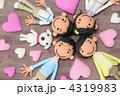 4人家族 人形 家族の写真 4319983