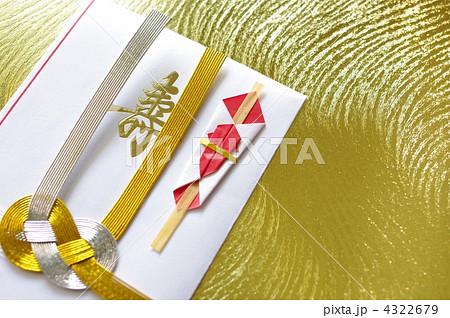 ご祝儀袋 金背景の写真素材 [4322679] - PIXTA
