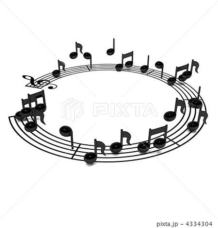サウンド ト音記号 ミュージカルのイラスト素材 4334304 Pixta