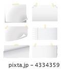 メモ帳 メモ用紙 ベクターのイラスト 4334359