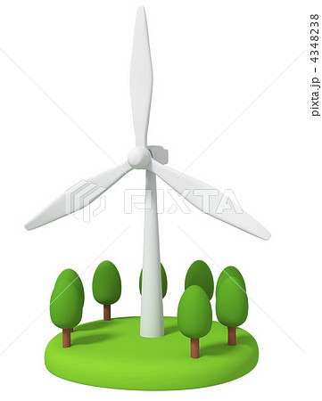風力発電のイラスト素材 4348238 Pixta