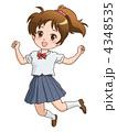 ベクター 学生 ジャンプのイラスト 4348535