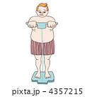 体脂肪計に乗るメタボリックな男性 4357215