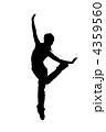 street dancer silhouette on white background 4359560