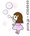 シャボン玉 人物 女の子のイラスト 4364649