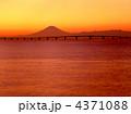千葉県の富士山のある風景・袖ヶ浦市 「アクアラインと富士山遠望」 4371088