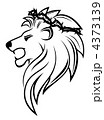 Heraldic lion with thorny wreath 4373139