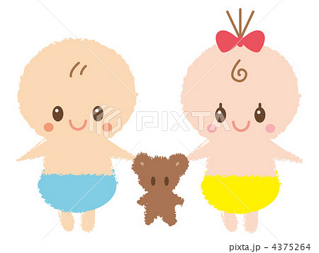 仲良し赤ちゃん 4375264