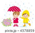 ベクター 男の子 傘のイラスト 4378859