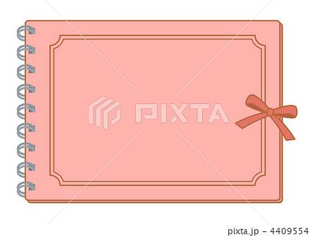 アルバムの表紙 リボン付きピンク のイラスト素材