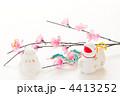 干支 白ヘビ 正月飾りの写真 4413252