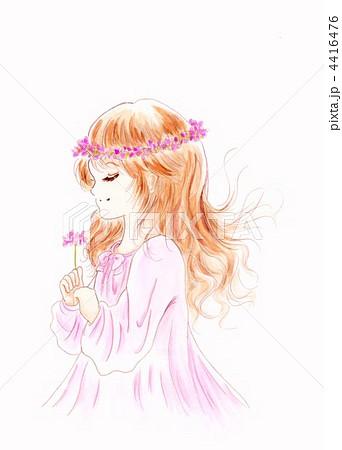 花冠の少女のイラスト素材 4416476 Pixta